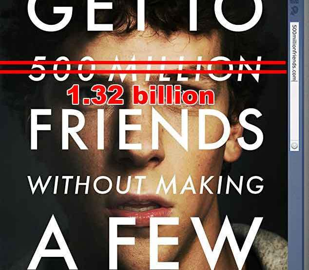 The Social Network movie poster about Facebook founder Mark Zuckerberg