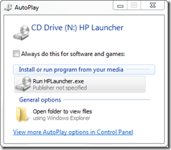 CD Drive autoplay