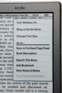 Kindle - Reading Options