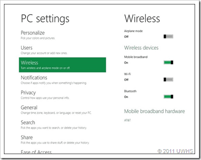 Windows 8 Wireless