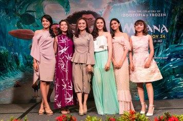 SINGAPORE – NOV 8: Moana Press Conference. Actress Auli'I Cravalho (voice of Moana), Southeast Asian singers - Maudy Ayunda (Indonesia), Ayda Jebat (Malaysia), Janella Salvador (Philippines), Myra Molloy (Thailand), Minh Nhu (Vietnam).