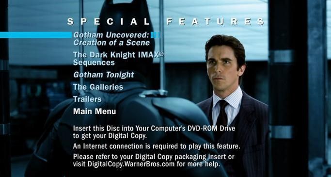 Special Features Menu tDK