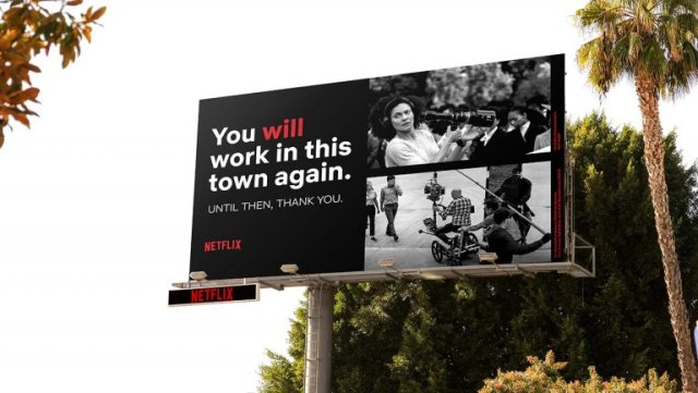 Netflix advertising campaign Hollywood
