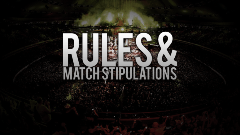 Rules and match stipulations in The Comic Colosseum