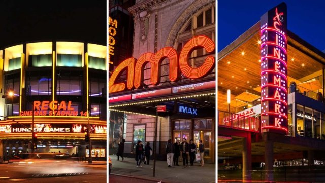 America's largest movie theaters - AMC, Regal, and Cinemark