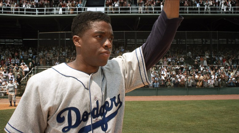 Chadwick Boseman was magnificent as Jackie Robinson in '42'.
