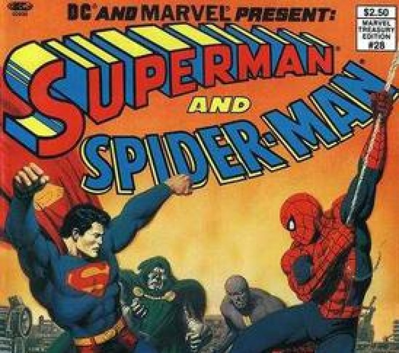 Superman and Spider-Man from Marvel and DC Comics
