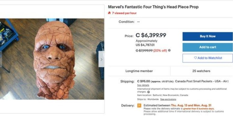 If you like The Thing from 2005's 'Fantastic Four', you can own a part of it.