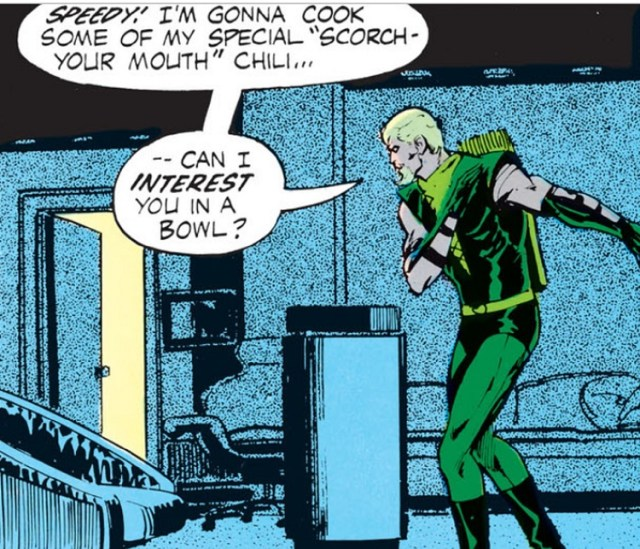 Green Arrow: Chef of Scorching Hot Chili? DC Comics took all the chances.