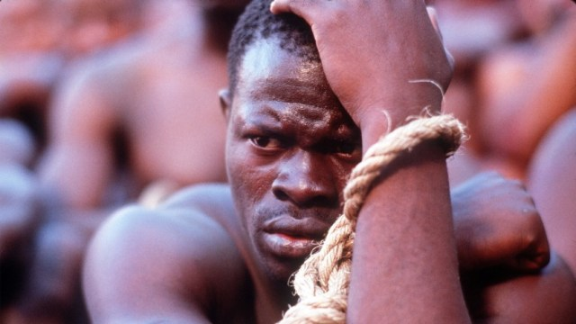 Djimon Hounsou's powerful role as Cinque, a slave on the boat Amistad