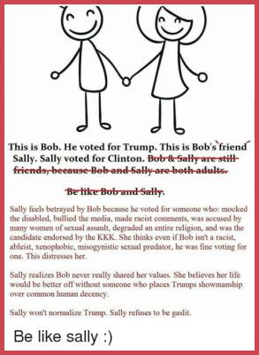 Bob and Sally, Trump meme