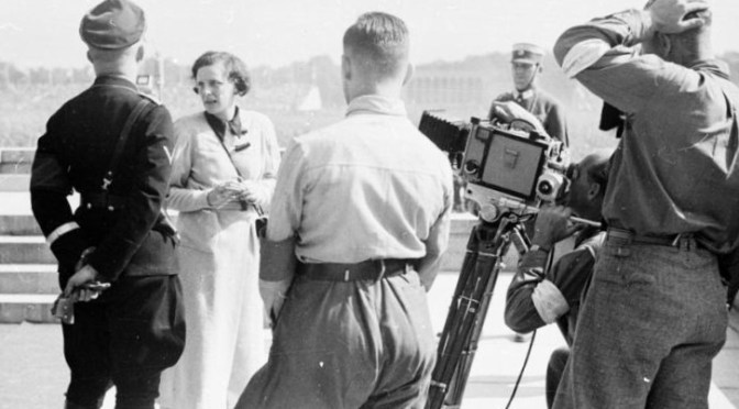 Leni Riefenstahl with Heinrich Himmler