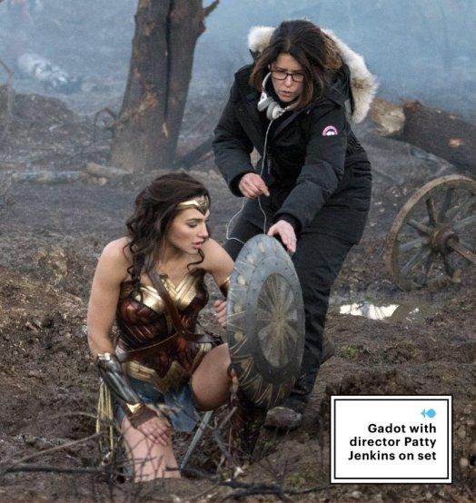 Glad Gadot & Patty Jenkins on set Wonder Woman