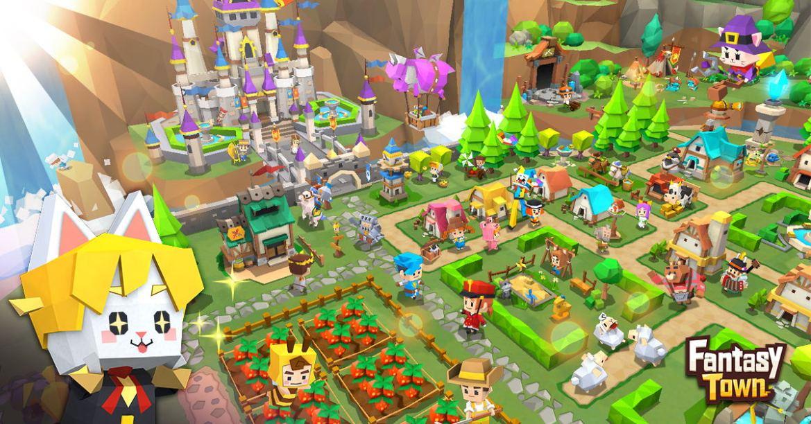 Landbrug, handel, og eventyr med vennerne i gamigo's kommende simulationsspil til mobilen, Fantasy Town