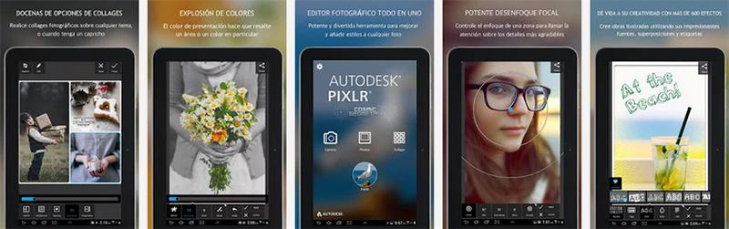 aplicación para selfies Autodesk Pixlr iphone android