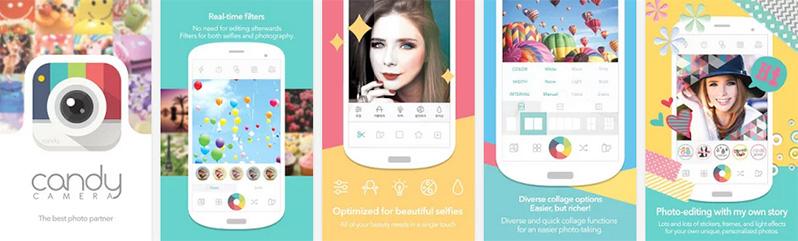 aplicación para selfies candy camera iphone android