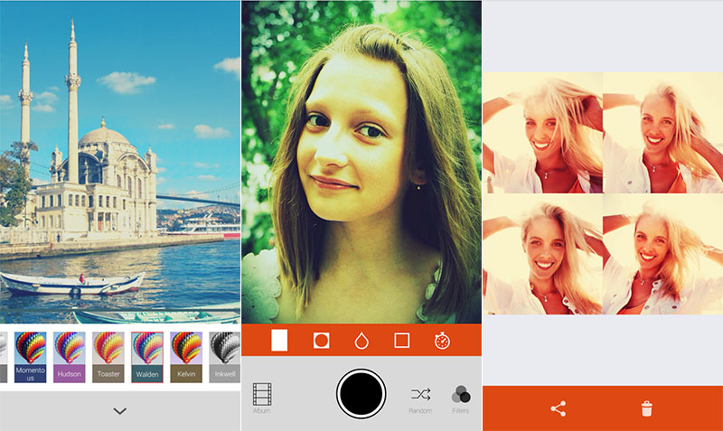 aplicación para selfies retrica iphone android