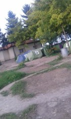 Tents inside Subotica camp