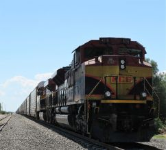 "Der Zug ""La Bestia"" an der Bahnstation in Catorce"