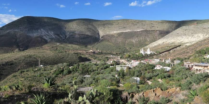 Blick auf Realde14 - Real de Catorce - Ein magischer Ort in der Wüste Mexikos