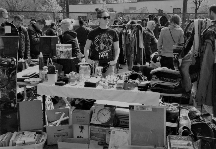 Ich auf dem Flohmarkt in Wilhelmsburg, Hamburg