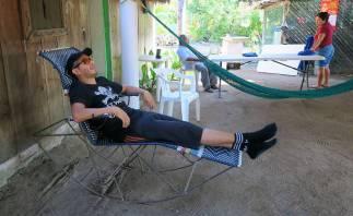 Entspannung im Schaukelstuhl