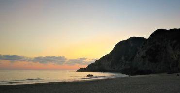 Sonnenuntergang Bucht - Playa Maruata - Der Hippie Strand Michoácans