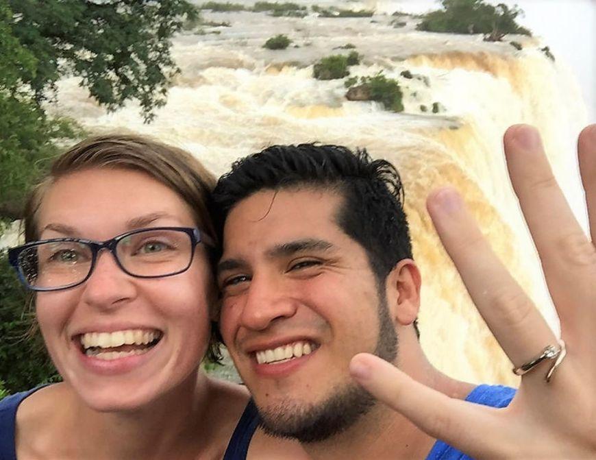 An den Wasserfällen von Iguazú haben wir uns verlobt