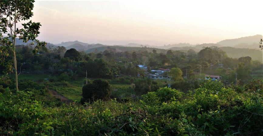 Sonnenuntergang in einem der Dörfer rund um Papantla