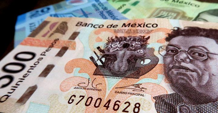 Pesos Scheine aus Mexiko
