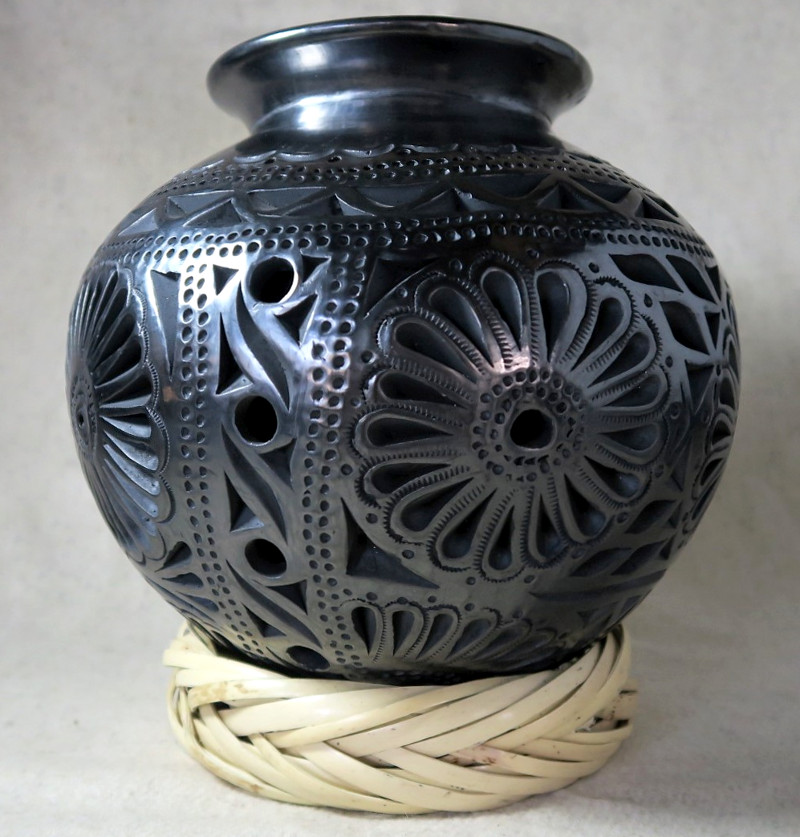 Dekorative Vase aus Barro negro