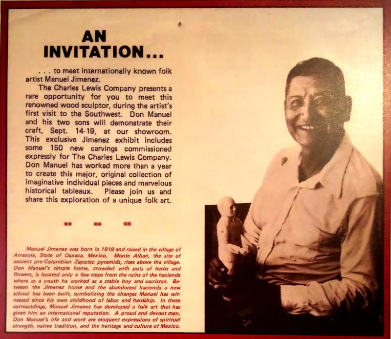 Zeitungsartikel über Manuel Jimenez im Museum in Arrazola