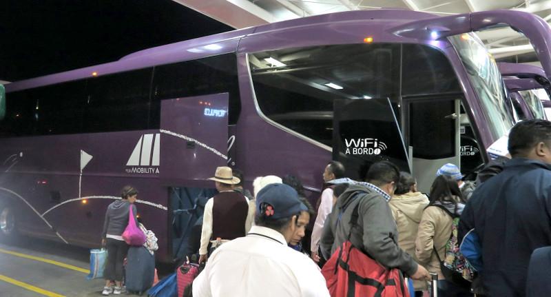 ADO GL Einsteigen - Mit dem Bus durch Mexiko - So geht's