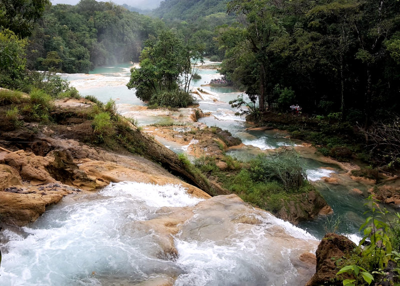 Agua Azul - Zwei Monate Mexiko - Backpacking Reiseroute