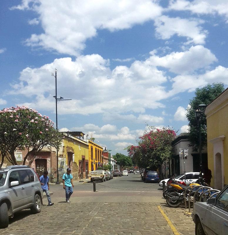 Oaxaca Straße - Zwei Monate Mexiko - Backpacking Reiseroute