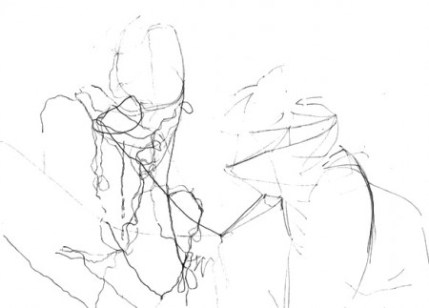 Unscheduled II digital image of pencil drawing 2 (2012)