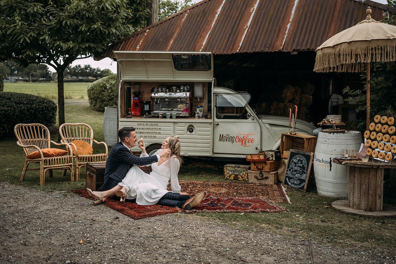 Koffiebar op bruiloft