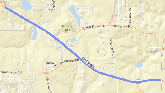 Project map of SR 81