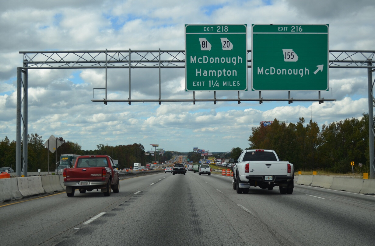 Photo of I-75 Northbound at SR 155 exit ramp