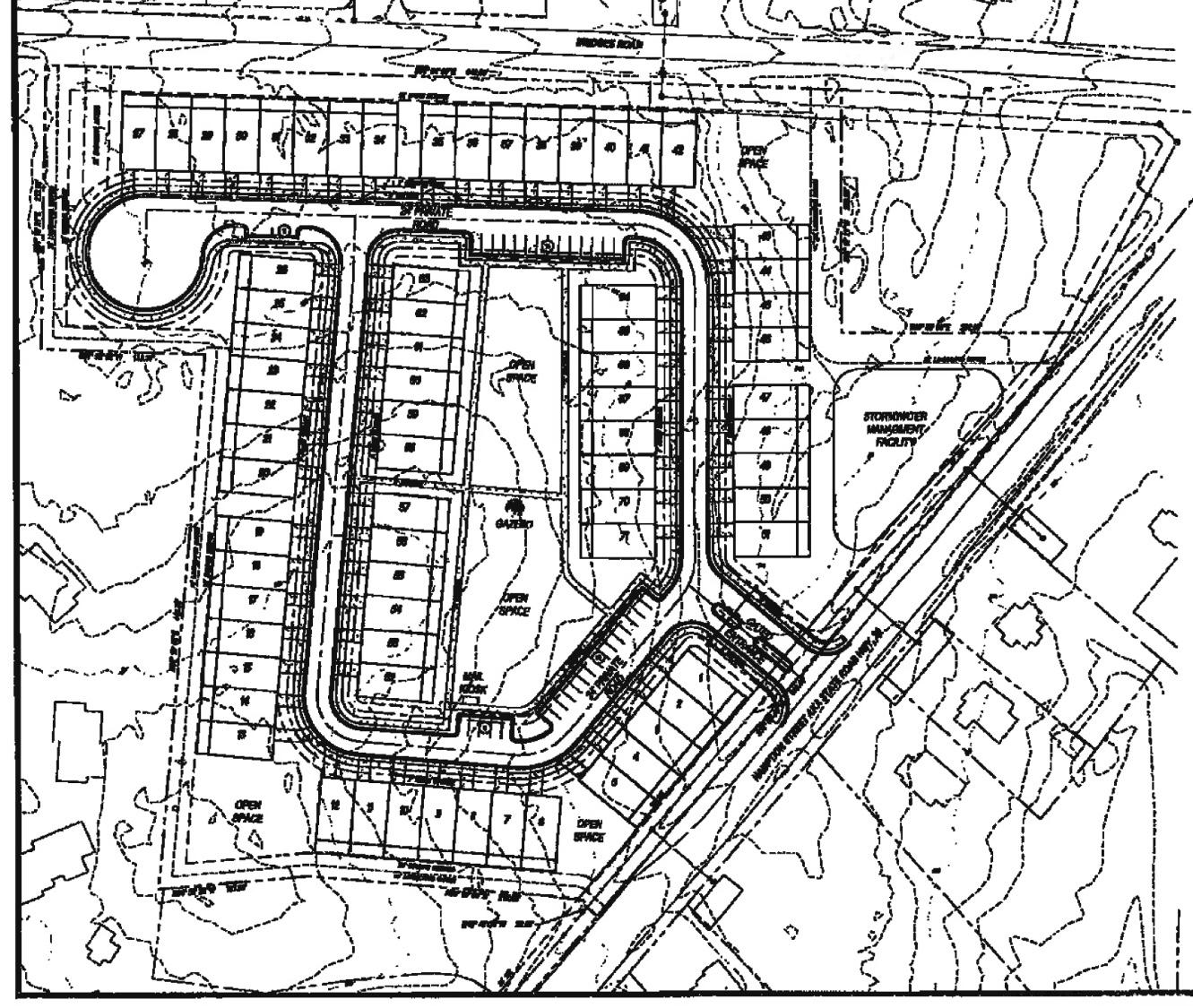 Site Plan for Hampton Street Townhomes