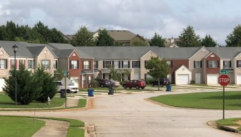 Photo of townhouses in McDonough (staff photo)
