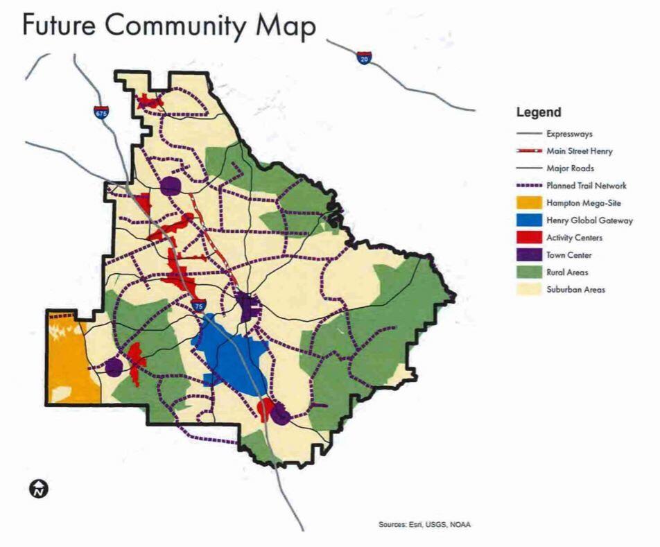 Imagine Henry 2040 Future Community Map