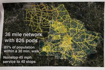Map of Transit X proposal