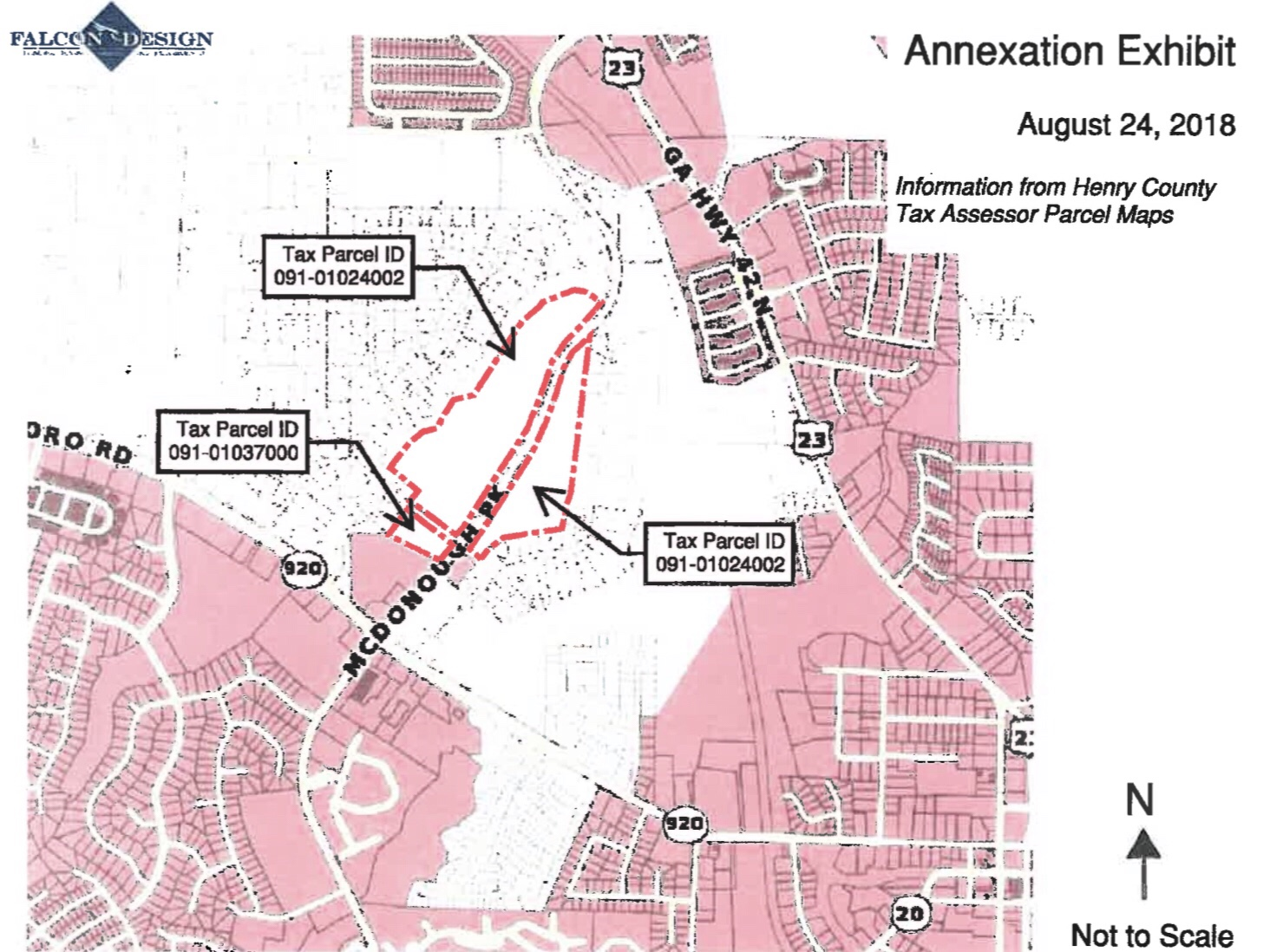 Map of proposed annexation for Village at McDonough Pkwy