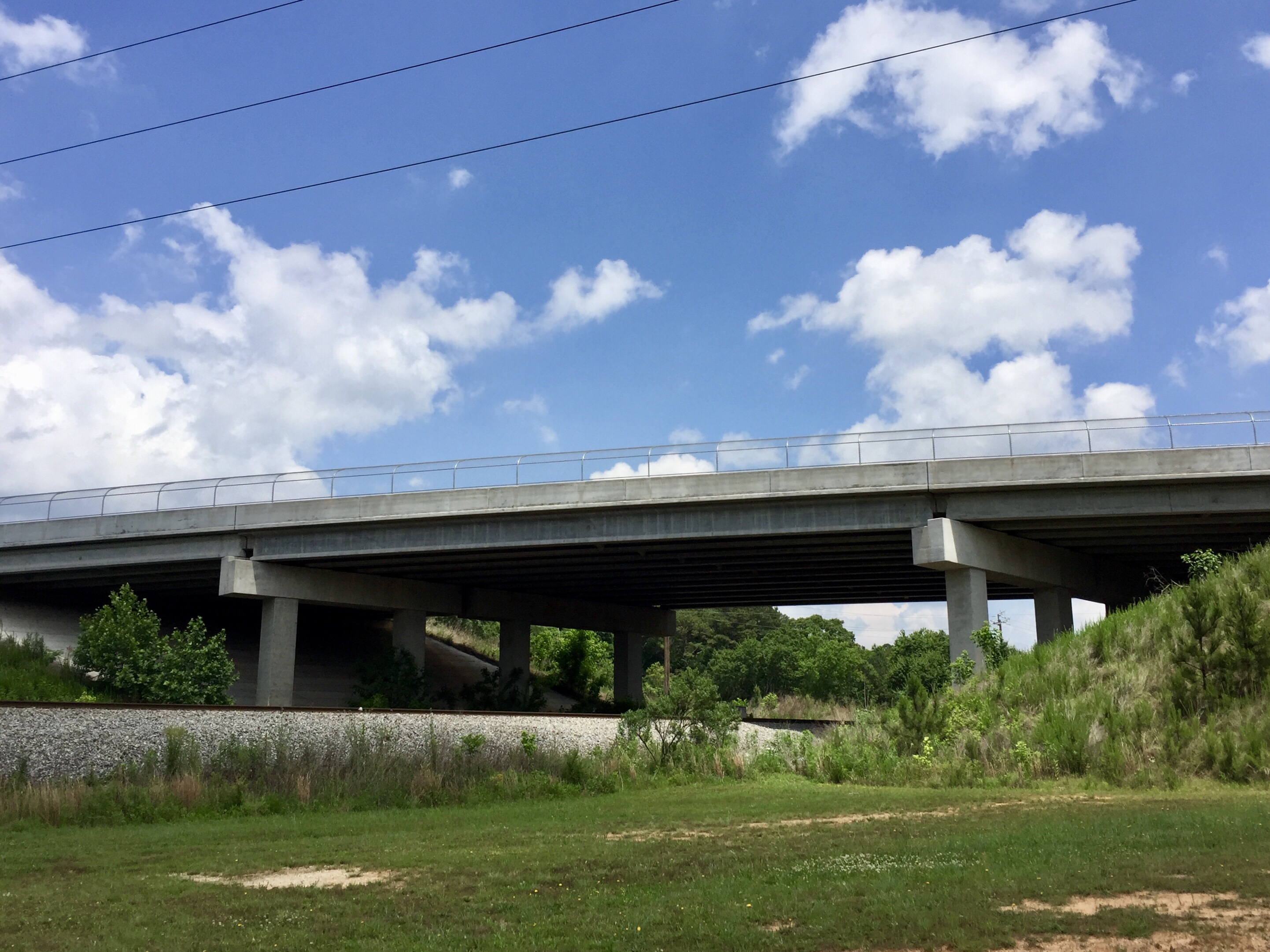 Rock Quarry Road bridge over Norfolk Southern railroad