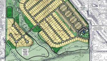 Concept site plan for Broder Farm development on Flippen Road (applicant photo)