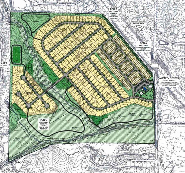 Concept site plan for Broder Farm development on Flippen Road (applicant photo)