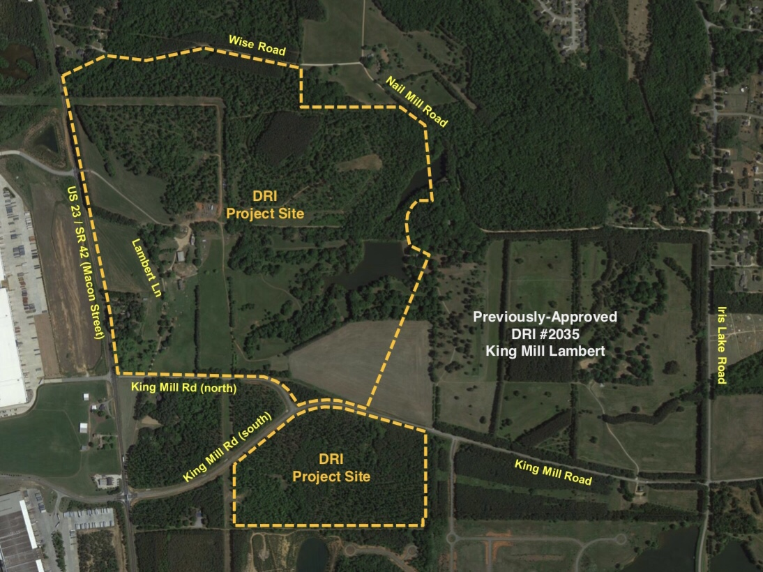 Map of Lambert Farms development
