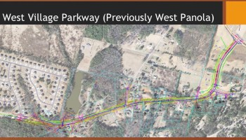 Concept layout of West Village Parkway widening (Henry County photo)