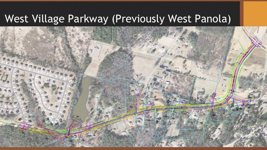 Map of West Village Parkway widening